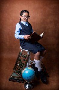 school portrait of school girl