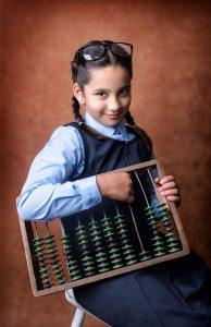 School portrait school girl County Cavan