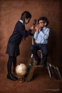 siblings school portrait