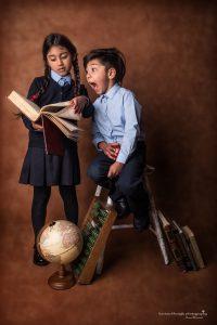 Siblings school photo